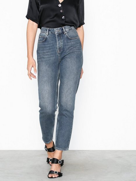 Selected Femme Slffrida Hw Mom Mid Blue Jeans W No Straight fit