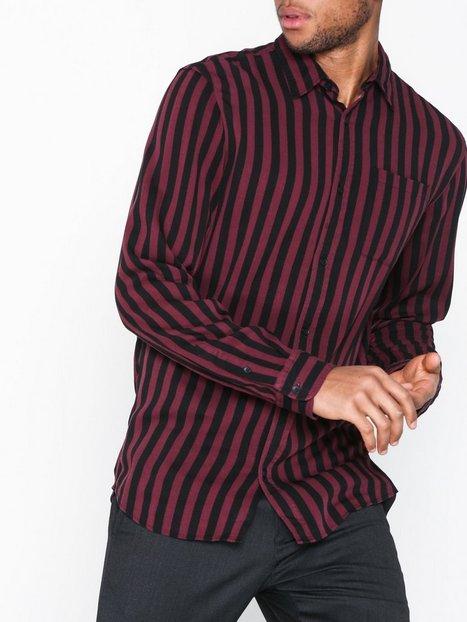 Jack Jones Jorlance Shirt Ls Org Skjorter Wine - herre
