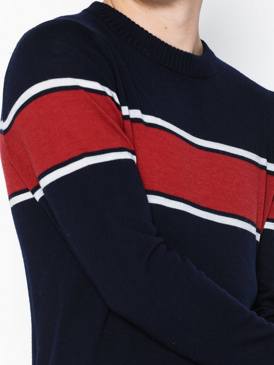 SLHMOUNTAIN MERINO STRIPE CREW NECK