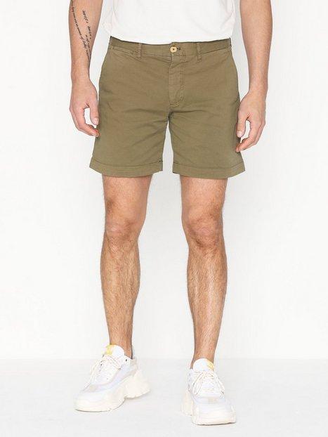 Morris Lt Twill Chino Shorts Shorts Olive - herre