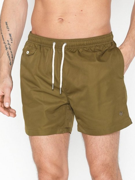 Morris Solid Bathing Trunks Badkläder Olive