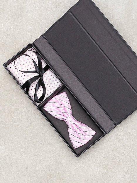 Amanda Christensen Pre Tie Pocket Butterfly Pink - herre