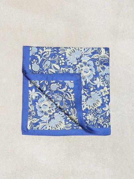 Amanda Christensen Printed Pocket Square Lommetørklæder Blue mænd køb billigt