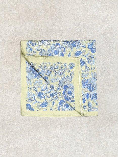 Amanda Christensen Printed Pocket Square Lommetørklæder Olive - herre
