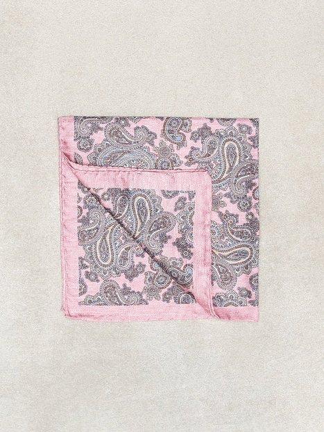 Amanda Christensen Printed Pocket Square Lommetørklæder Light Pink mænd køb billigt