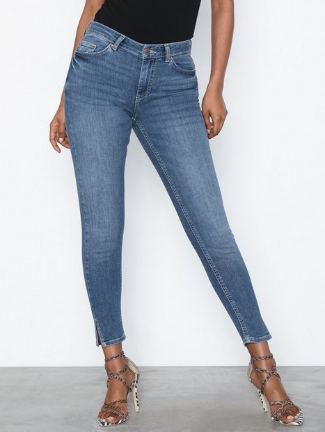Billede af Pieces Pcdelly Mw Crop Slit Skn MB207-Ba/N Jeans