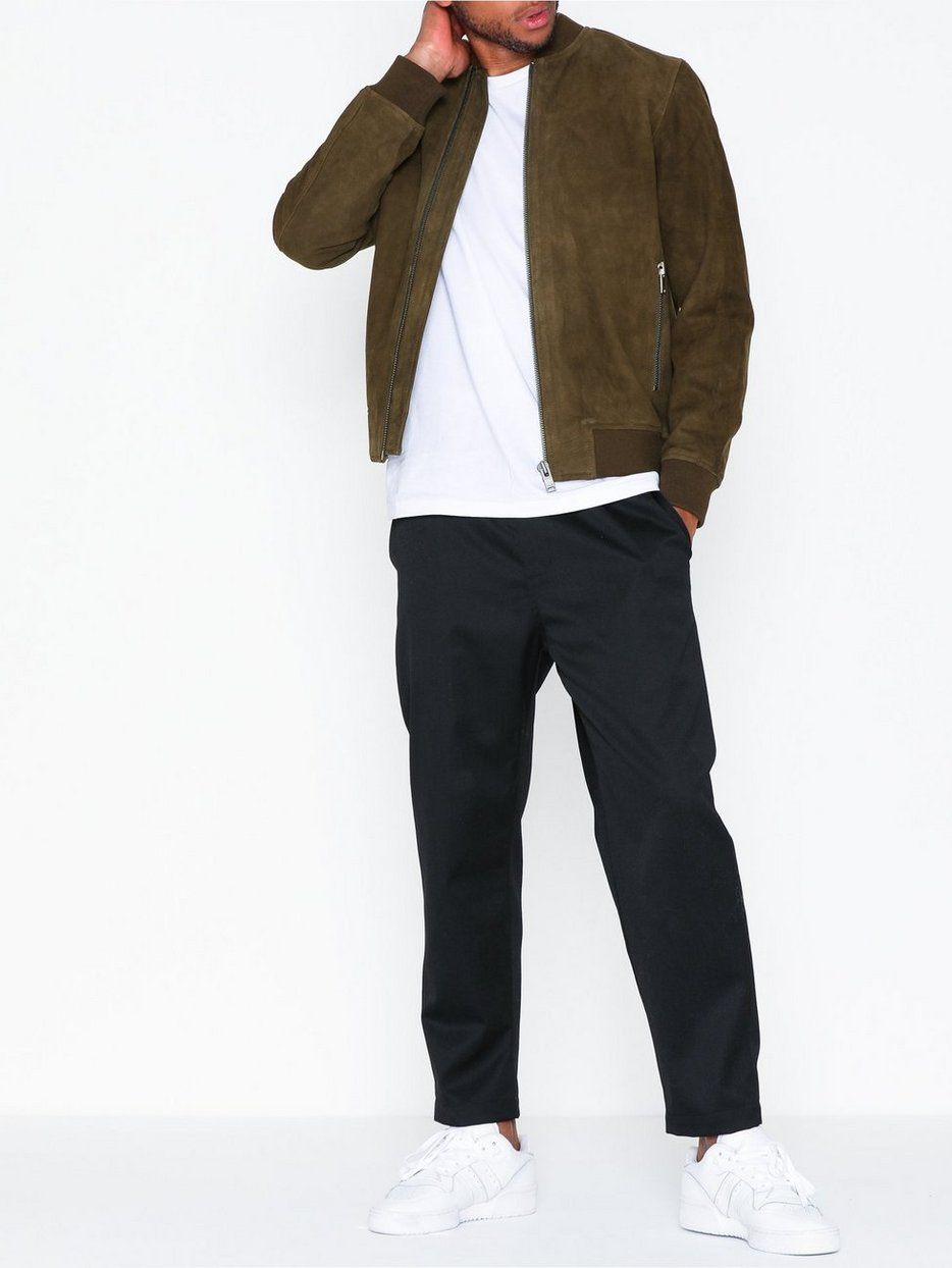 SLH B-01 BOMBER SUEDE JKT W