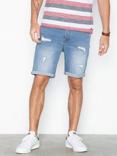 Solid Regular Lt. Ryder Blue 168 Shorts Denim - herre