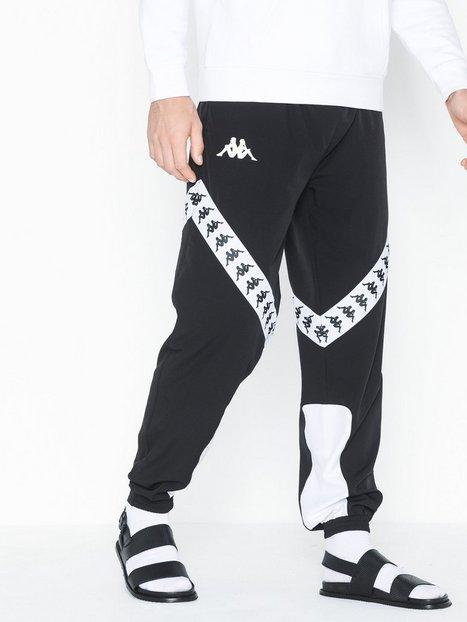 KAPPA Trousers sport, Auth. Balmar Bukser Sort Hvid - herre