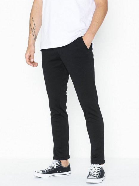 Selected Homme Slhskinny Jersey Pants B Noos Bukser Sort - herre