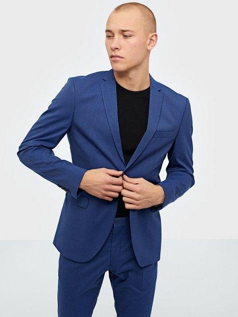 Selected Homme Slhslim Mylologan Insig. Blue Blz B Blazere jakkesæt Mørkeblå mand køb billigt