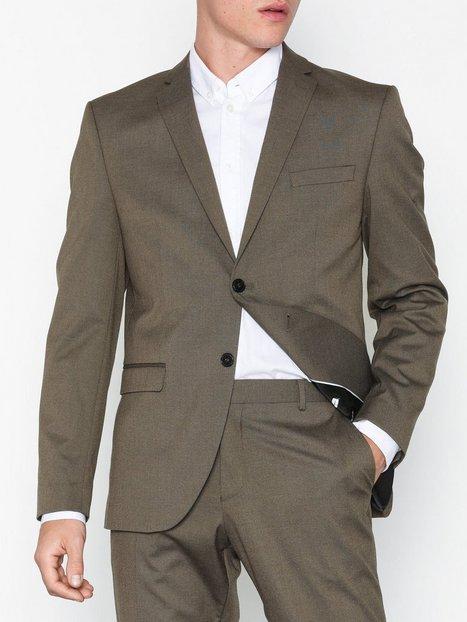 Selected Homme Slhslim Mylologan Lt Brown Blazer B Blazere jakkesæt Brun mand køb billigt