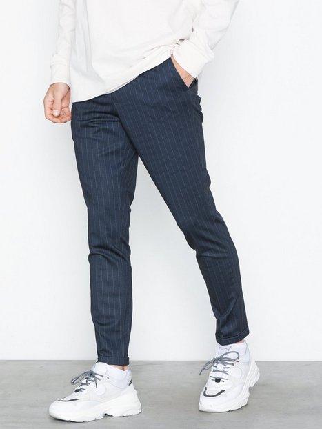 Selected Homme Slhskinny Jersey Pants B Bukser Mørkeblå - herre