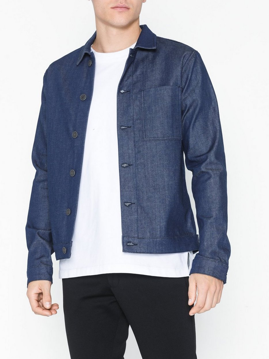 SLHCHRIS 6153 CLEAR BLUE RAW JACKET