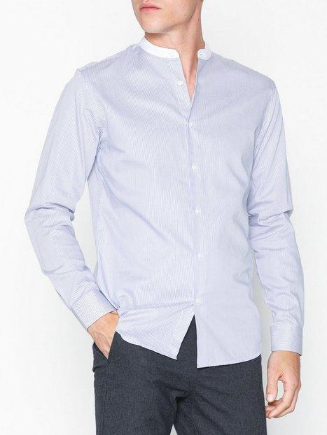 Selected Homme Slhslimcontrast Shirt Ls Mix B Skjorter Hvid mand køb billigt