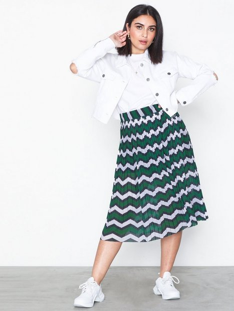 Pieces, Plisserad kjol, Strl: S, Svart, Polyester