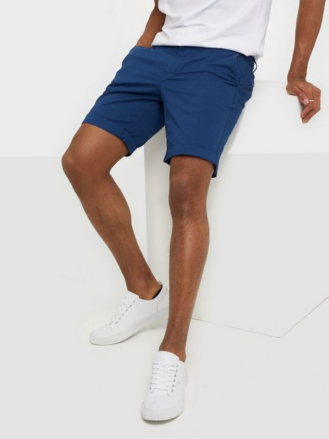 Selected Homme Slhstraight Paris Shorts W Noos Shorts Mørkeblå - herre