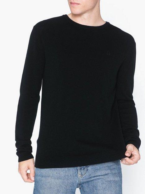 Les Deux Cashmerino Knitwear Trøjer Black mand køb billigt