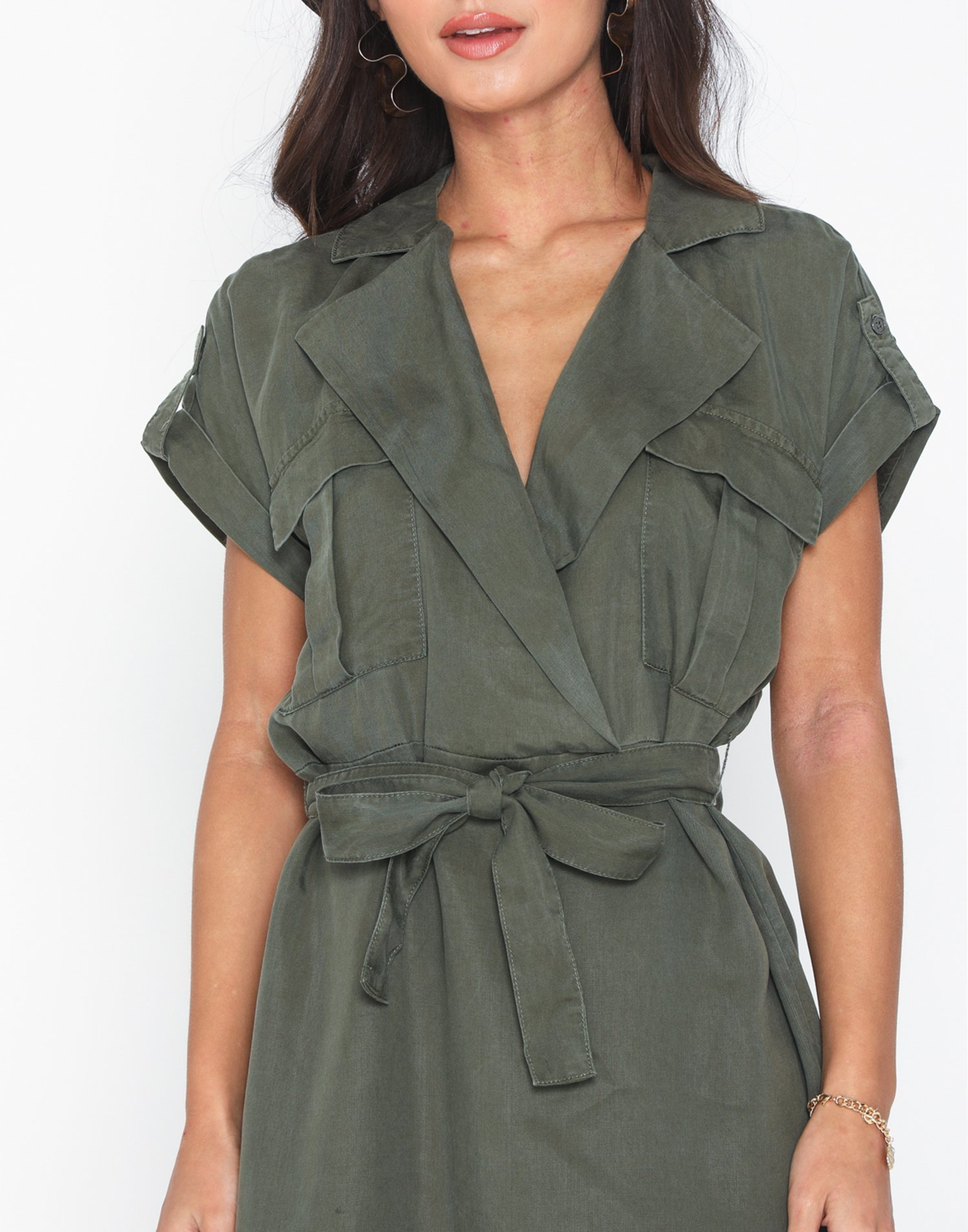 Noisy May Damen Kleid NMVERA S//S ENDI TENCEL SHIRT DRESS