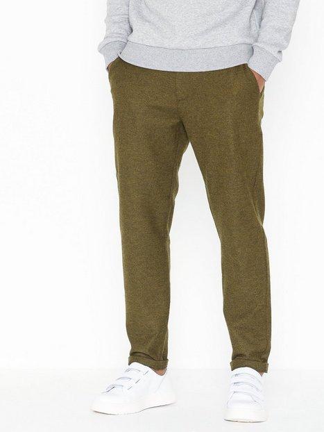 Les Deux Como Wool Pants Bukser Olive - herre
