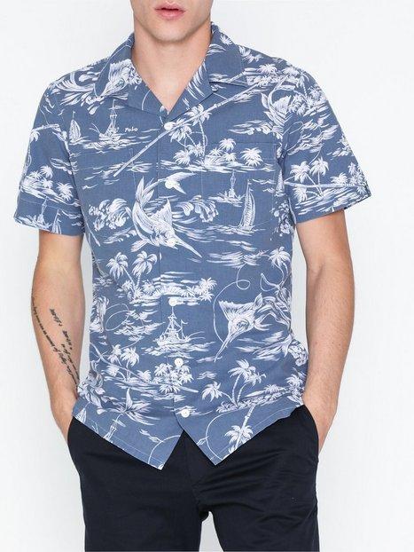 Polo Ralph Lauren Short Sleeve Sport Shirt Skjorter Blue - herre