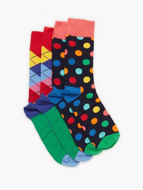 Happy Socks Christmas Cracker Big Dot Gift Box Strømper Mønstret - herre