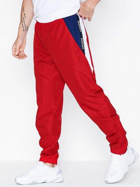 Lacoste Pantalon De Survetement Bukser Rød mand køb billigt