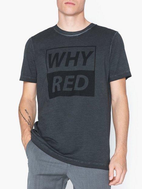 Whyred Art Oil Dyed Whyred Print T shirts undertrøjer Black - herre