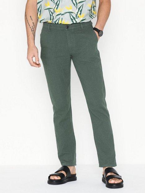 Selected Homme Slhstraight Paris Linen Pants W Bukser Grøn - herre
