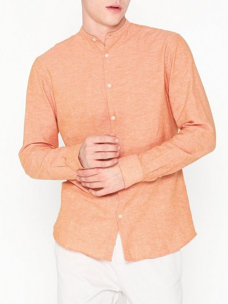 Selected Homme Slhreglinen Shirt Ls China B Skjorter Orange - herre