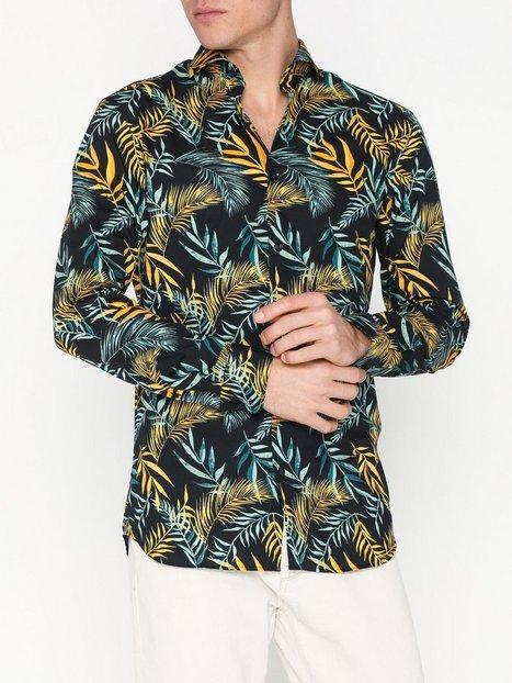 Selected Homme Slhslimsel Winston Shirt Ls Aop B Skjorter Mørkeblå mand køb