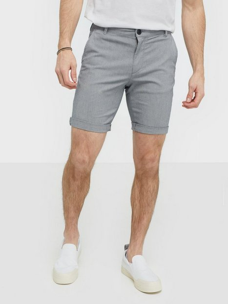 Selected Homme Slhstraight Paris Mix Shorts W Shorts Sort - herre