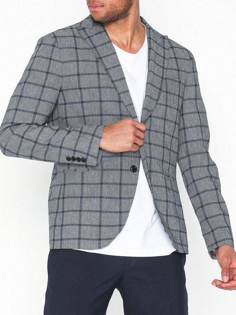Selected Homme Slhslim Nik Check Blazer B Blazere jakkesæt Grå - herre