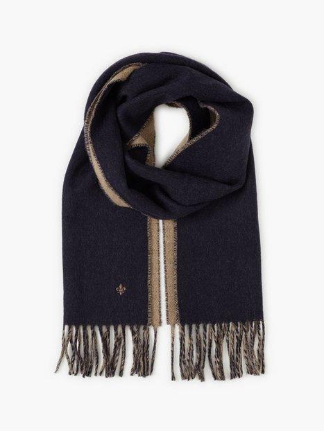 Morris Morris Double Face Scarf Halstørklæder scarves Navy - herre