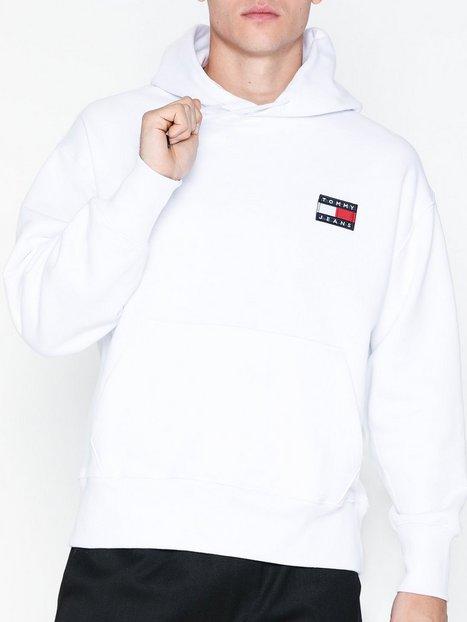 Tommy Jeans Tjm Tommy Badge Hoodie Trøjer Hvid mand køb billigt