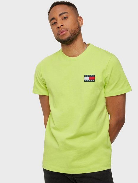 Tommy Jeans Tjm Tommy Badge Tee T-shirts & undertrøjer Green