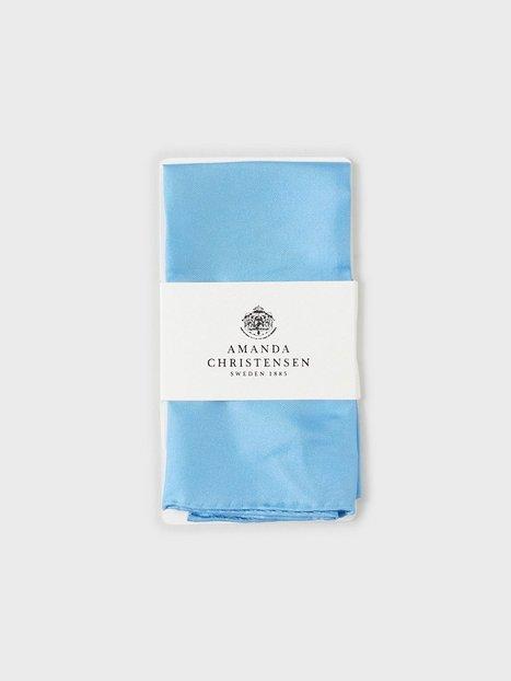 Amanda Christensen Pocket Square Lommetørklæder Sky Blue - herre