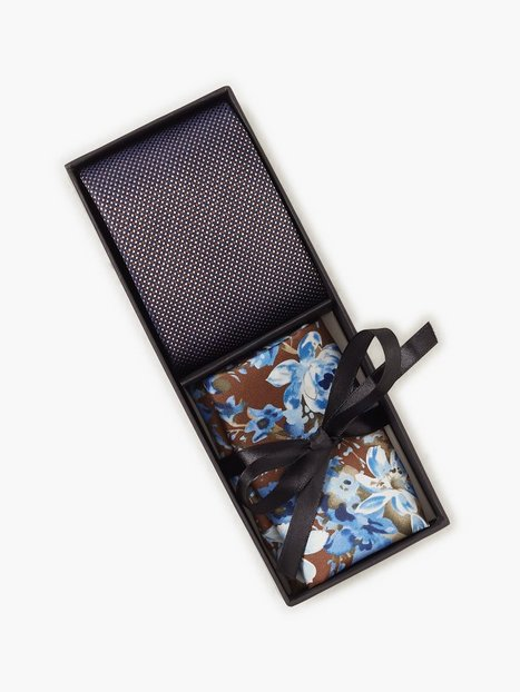 Amanda Christensen Tie Pocket Square Slips Brown - herre