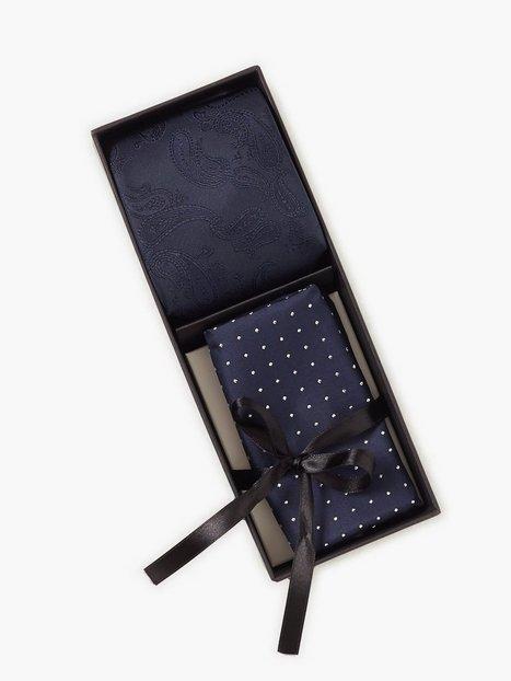 Amanda Christensen Tie Pocket Square Slips Navy - herre