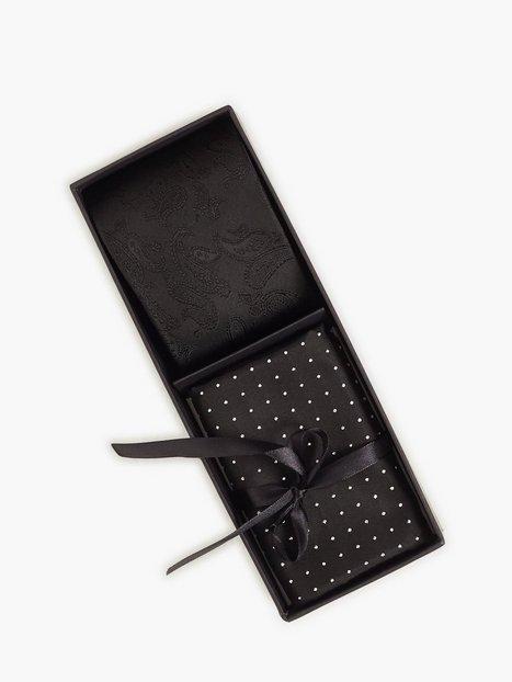 Amanda Christensen Tie Pocket Square Slips Black - herre