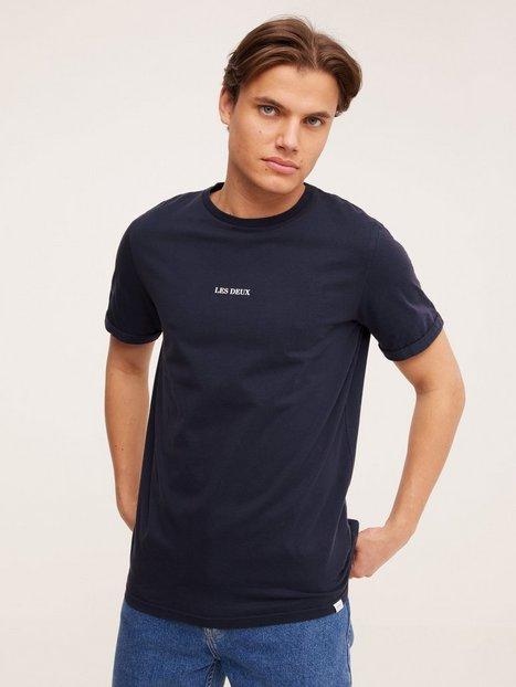 Les Deux Lens T-Shirt T-shirts & undertrøjer navy/white