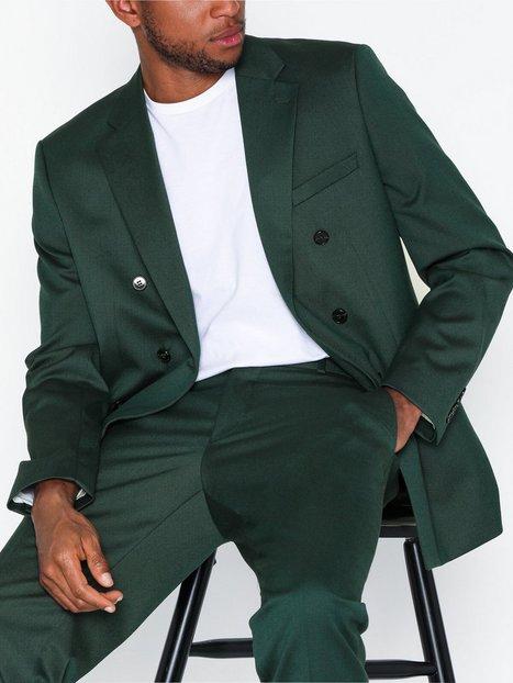 Selected Homme Slhslim Daxlogan Db Green Struc Bla Blazere jakkesæt Grøn - herre