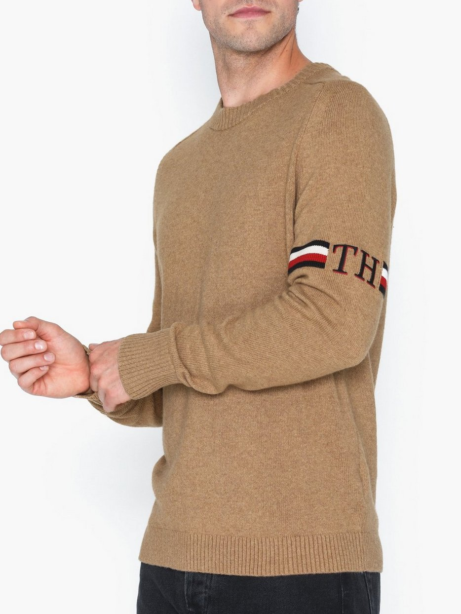TH MONOGRAM BRANDED SWEATER