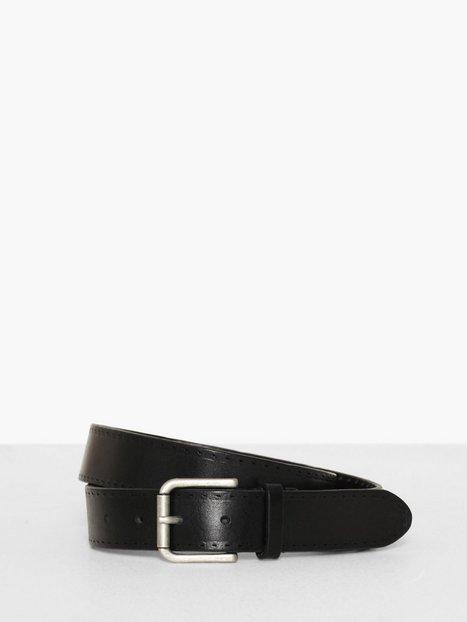 Selected Homme Slhterrel Leather Belt Noos W Bælter Sort mænd køb billigt