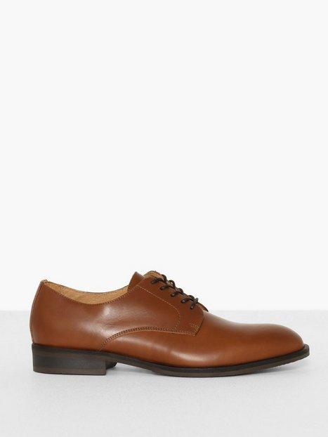 Selected Homme Slhlouis Leather Derby Shoe B Noos Elegante sko Lysebrun - herre