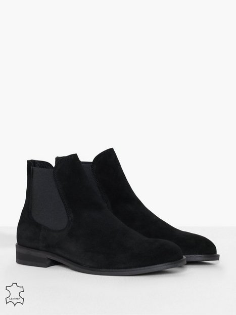 Selected Homme Slhlouis Suede Chelsea Boot B Noos Chelsea boots Sort mand køb