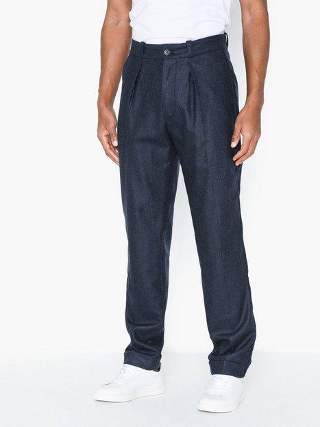 Tommy Hilfiger Wide 1 Pleat Fit Wool Slacks Bukser Navy Blazer - herre