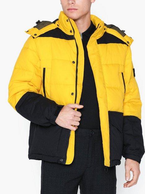 Lee Jeans Mid Puffer Jacket Lemon Zest Jakker frakker Lemon mand køb billigt