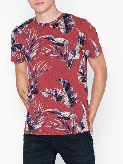 Jack Jones Jorkalex Tee Ss Crew Neck T shirts undertrøjer Mørkerød mand køb billigt
