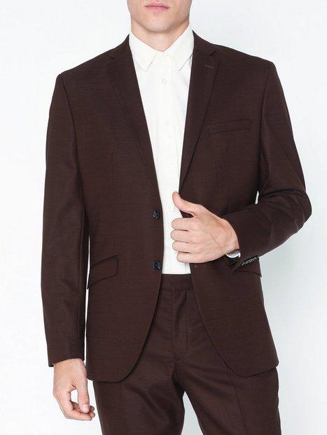 Selected Homme Slhslim Mylostate Bordeaux Blz B Blazere jakkesæt Mørkerød mand køb billigt